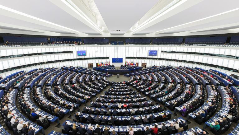 European Parliament Strasbourg Hemicycle by DAVID ILIFF / CC BY-SA 3.0